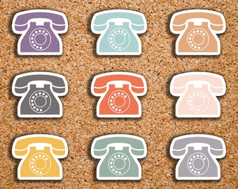 60 Phone, Telephone, Call Icon Planner Stickers for 2017 Inkwell Press IWP-DC24