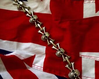 Jolly Roger Link Bracelet
