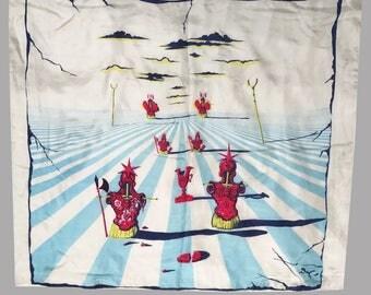 1940s Salvador Dalí Printed Silk Scarf