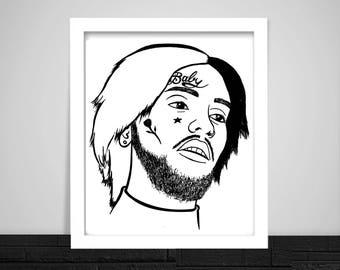 Lil Peep Print