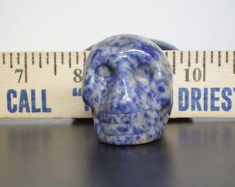 Vintage Carved Stone Skull Figurine S#3