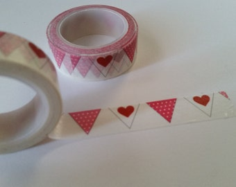 pink heart penant Washi Tape