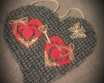 fabric heart (upcycling)