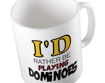 I'd rather be playing dominoes mug
