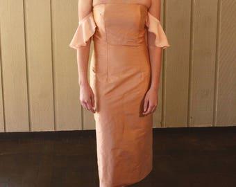 Ruffle Sleeve Off The Shoulder Dress