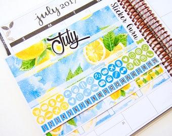 July Monthly Kit 2017 // Monthly Planner Sticker Kit // Erin Condren Planner Stickers ECLP [M006]