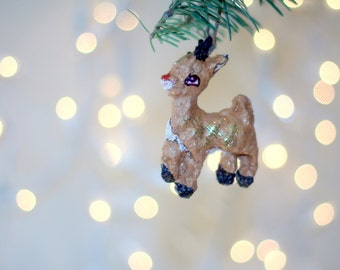 Rudolph the Red-Nosed Reindeer Ornament, unique christmas ornament, hostess gift, housewarming gift, gift for children