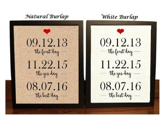 Engagement Gift Idea | Gift for Couple | Engagement Gift for Her | Engagement Gift for Couple | Burlap Wedding Gift | Bridal Shower Gift