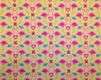 Flamingos in Love Snuggle Flannel Blanket