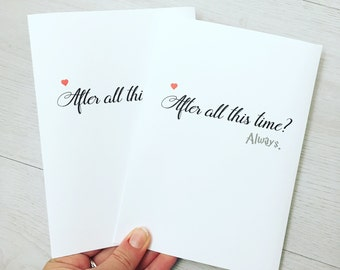 Harry Potter After All This Time, Always Valentines Just Because Love Greetings Card