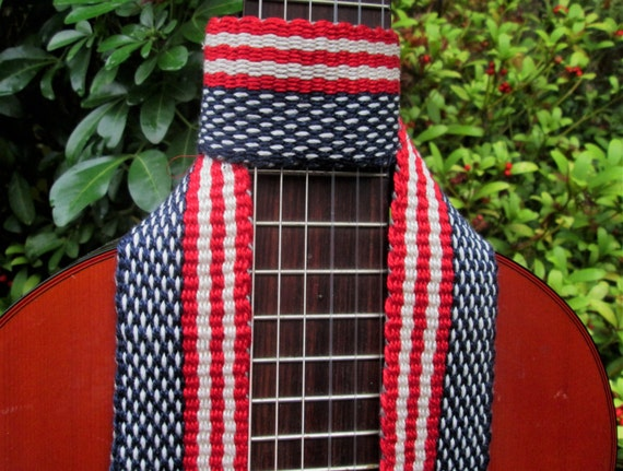 hand woven guitar strap banjo strap american by westcoastweave. Black Bedroom Furniture Sets. Home Design Ideas