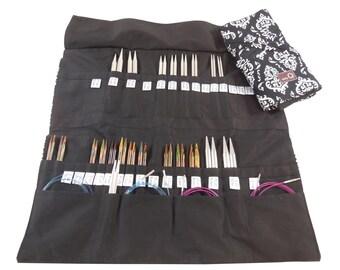 Della Q Double Interchangeable Needle Case 195-1 or choose Decatur, Columbia Cotton Prints  & Silk Stripes