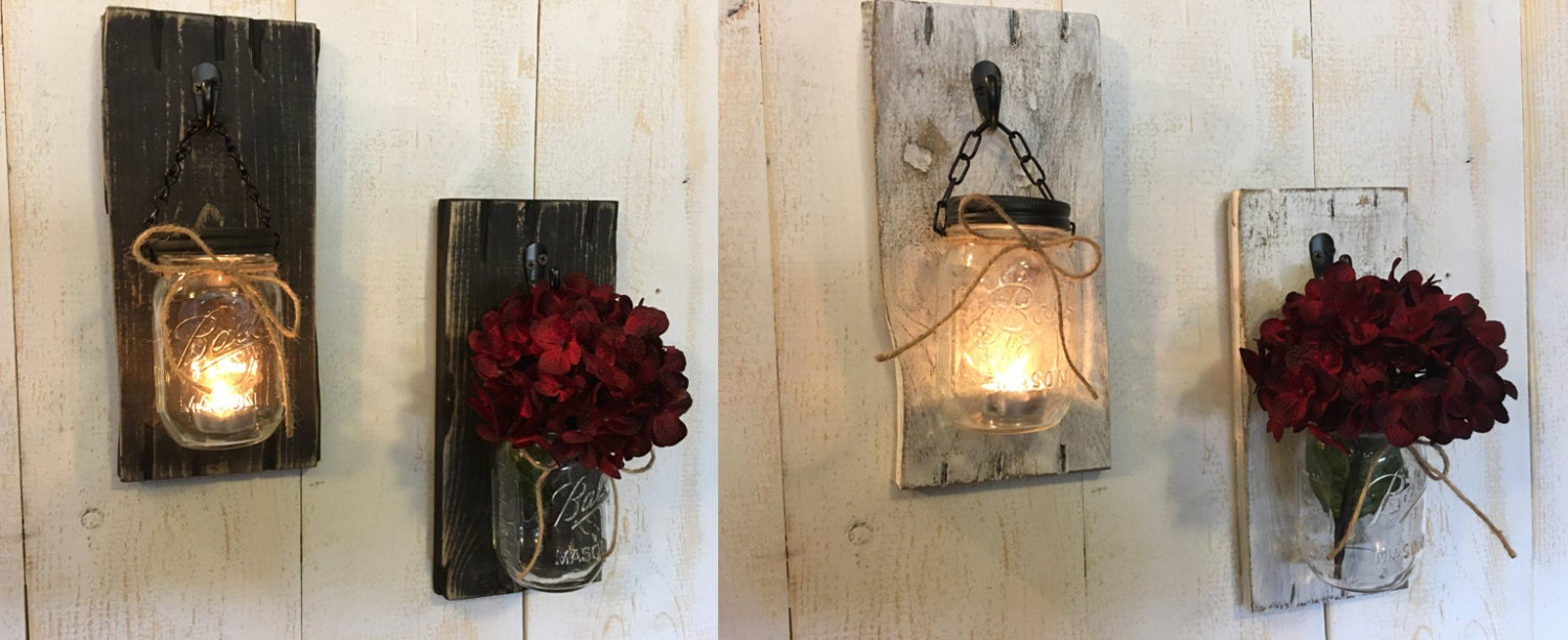 Candle holders rustic candle holders candles mason jar candles candle holders rustic candle holders candles mason jar candles candle decor wall sconces candle sconces wood mason jar sconces amipublicfo Image collections