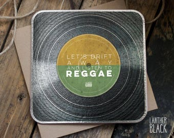 Vinyl greeting card / Vinyl record card / Love card / Husband birthday / Wife anniversary / Reggae / VB03
