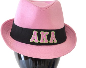 Alpha Kappa Alpha Sorority Greek Letter Fedora Hat AKA102