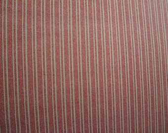 Americana: Red & White Varied Width Stripes; sold by the yard