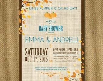 PRINTABLE    Little Pumpkin - Baby Shower