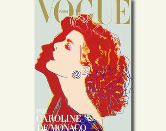 FINE ART REPRODUCTION Vogue Cover Print Andy Warhol 1984 Vintage Fashion Illustration Fashion  Fashion Print Feminine Fashion Art  bp