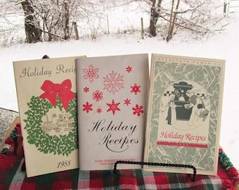 Christmas Cookbooks Set | Vintage Holiday Recipes | Christmas Recipe Books