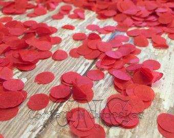 Red wedding confetti, red tissue paper confetti, wedding reception, bridal shower, save the date, wedding invitations, envelope confetti
