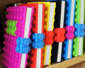 Set of 6 Dot Block Notebooks, Party Pack Size, Favors, Gifts
