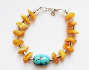 Natural Baltic Amber Bracelet15.8g.