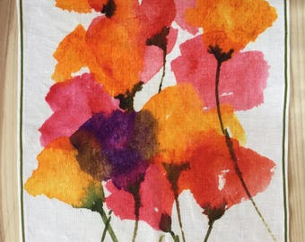SUMMER SALES! Wall tapestry. Placemat. Dish towel. Digital print on linen