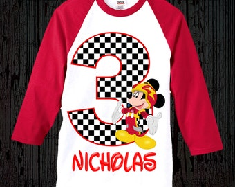 Mickey Roadster Racers Birthday Shirt