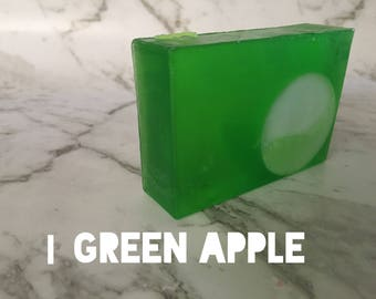 Soap - green apple - glycerin soap - organic soap - NZ made- guest soap - gift ideas - melt and pour soap - gift - poisoned apple pie - tart