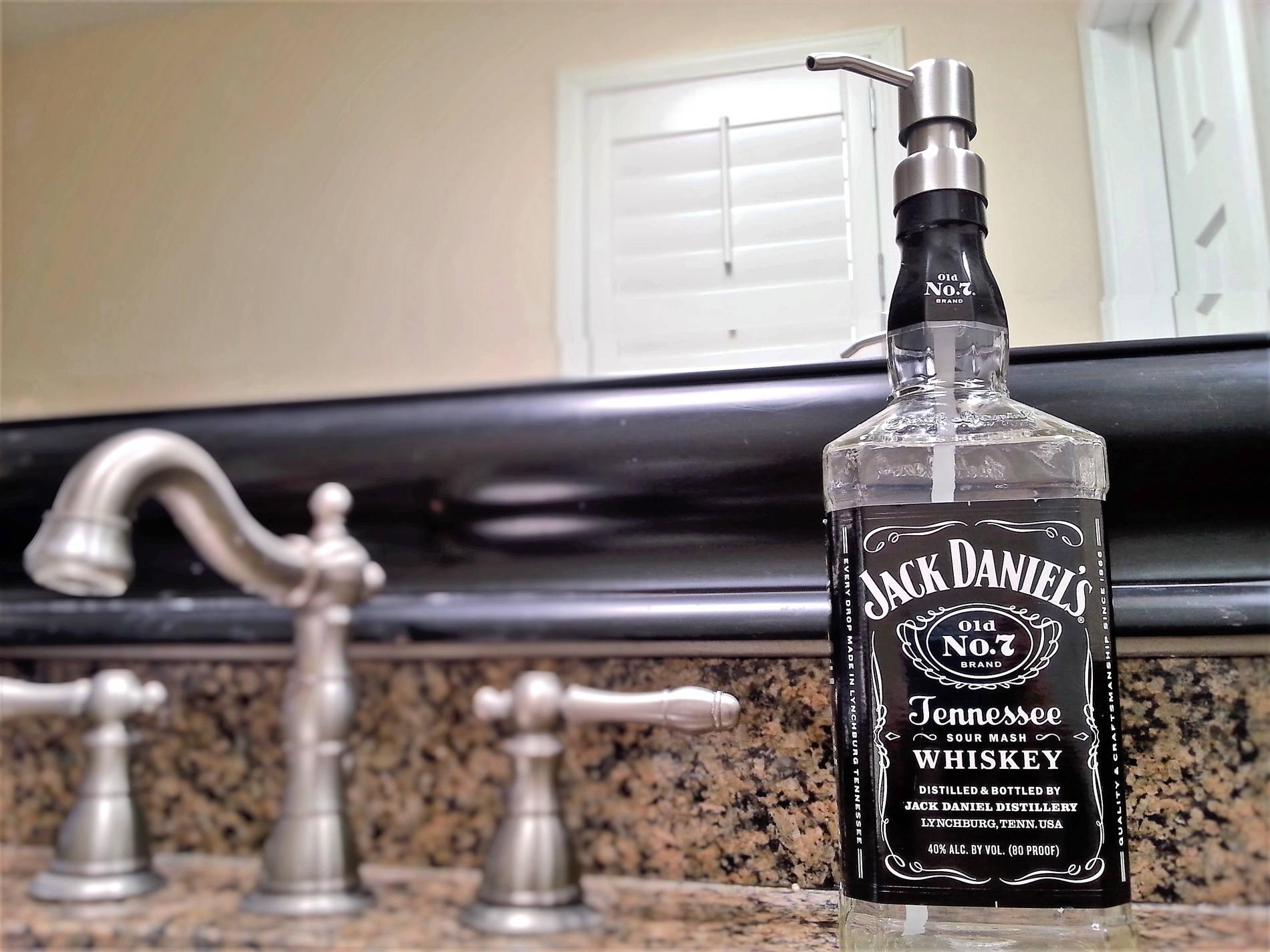 Design your own jack daniels t shirt - Jack Daniels Whiskey Soap Dispenser Jack Daniels Decor Boyfriend Glass Soap Dispensers Dish Soap Whiskey Gift Whiskey Lover
