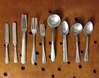 Mini toy cutlery from the 50's