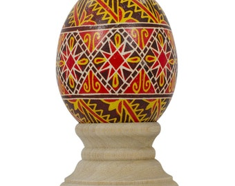 Lypnyky Chicken Size Blown Real Ukrainian Easter Egg Pysanky- SKU # bl-641