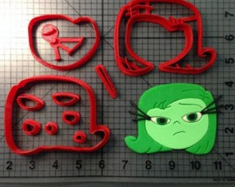 Inside Out Disgust Cookie Cutter 3 inch