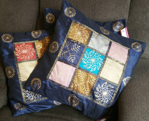 Blue cushion Cover/Pillow Couch/Pillow bohemian/pillow case/blue pillow cover/Throw Pillow Cover/Indian Cushion Cover/Bedside pillow