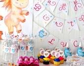 Unicorn Party Printable Birthday Kit