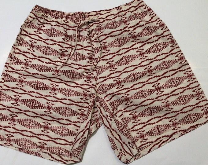 Khushi Shorts - Red & White Aztec