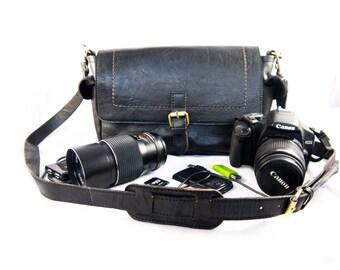 Camera-Man leather Messenger bag