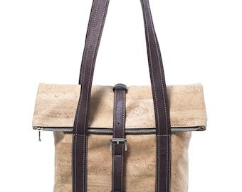 Handbag Cork Cork leather tote shoulder bag shopper Cork bag