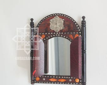 Moroccan Wall Mirror for Bathroom, Dresser, Living Room Decor