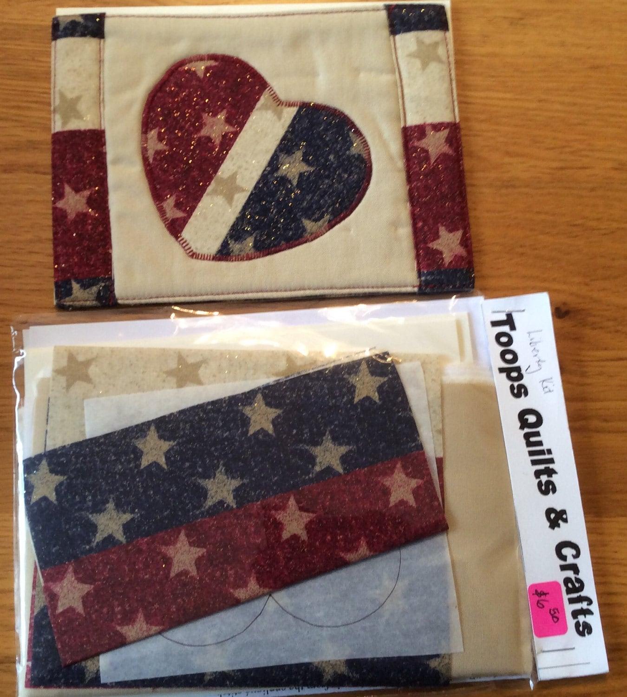 Patriotic Mug Rug Greeting Card Quilt Kit From