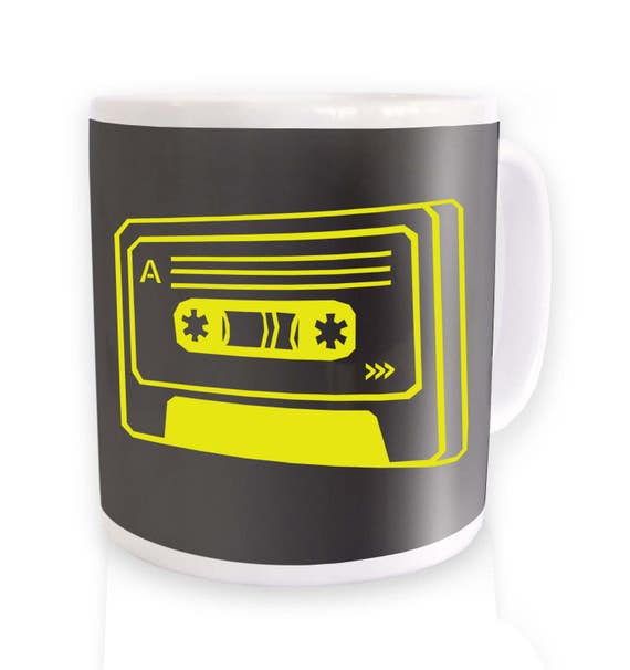 Neon Yellow Cassette Mug