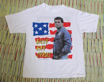 Vintage 90s Billy Ray Cyrus Achy Breaky Heart 1992 Tour Tee Shirt, Size Large