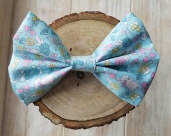 Easter bunny baby girl nylon headband bow