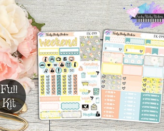 Spring Party Deluxe 7 Page kit, Sized for Vertical Life Planner {Fk-198-