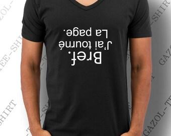 """T-shirt  """"Bref. J'ai tourné la page."""" cadeau anniversaire homme personnalisé"""