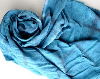 teal squares swaddle, teal and black muslin blanket, gender neutral nursery, baby shower gift, tie dye bedding, baby gifts under 25