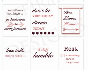 Women / Entrepreneur / Empower Stickers for Planners with White Background