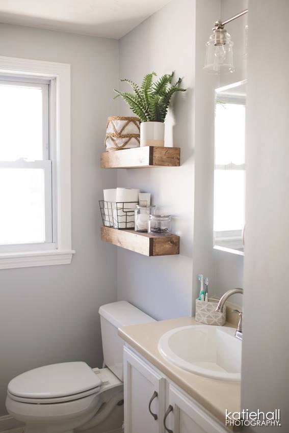 Set of 2 floating shelves shelf farmhouse shelves - Floating shelf ideas for bathroom ...