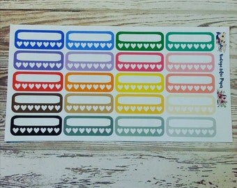 20 Multi Color Habit Tracker Planner Stickers: Perfect for Erin Condren, Happy Planner, and Personal Planners!