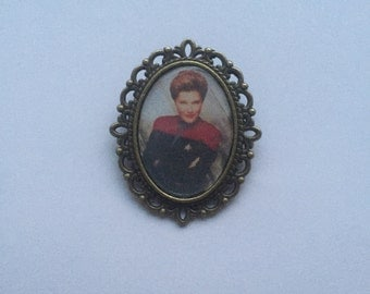 Captain Kathryn Janeway Cameo Brooch